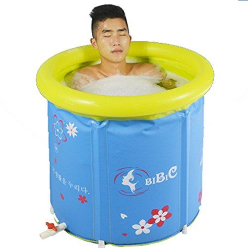 LJF bain gonflable Baignoire pliante épaissie Baignoire adulte Baignoire gonflable Chaud Plastique Enfants Large ( taille : 60*70cm )