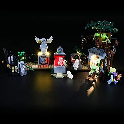 LIGHTAILING Conjunto de Luces (Hidden Side Misterio del Cementerio) Modelo de Construcción de Bloques - Kit de luz LED Compatible con Lego 70420 (NO Incluido en el Modelo)