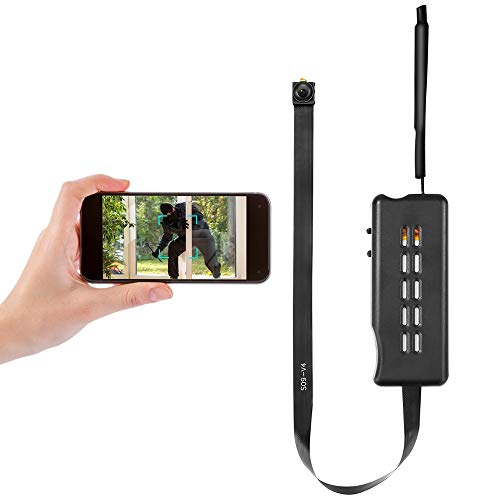 Mini Hidden Camera HD 1080P Portable Wireless Spy Camera Module Small Nanny Cam Tiny WiFi Covert Cam for Home Security Motion Detection Alarm & Record Live Streaming via Android iOS APP