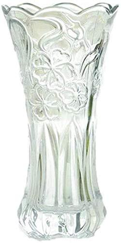 JYHF Jarrón para decoración de cristal con diseño de lirios, flores secas,...
