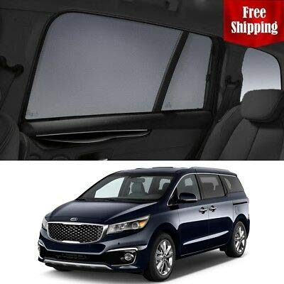Sale!! Magnetic Car Window Shades for KIA Carnival 2016 YP Car Rear Sun Blind Shade Baby Kid Protect...