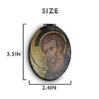 化粧鏡 コンパクトミラー イエス キリスト 手鏡 携帯ミラー 折りたたみ鏡 拡大鏡 両面ミラー