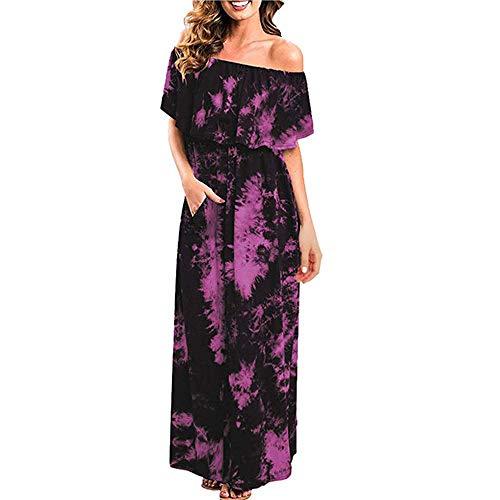 Vestido de mujer de manga corta para fiesta, teñido anudado