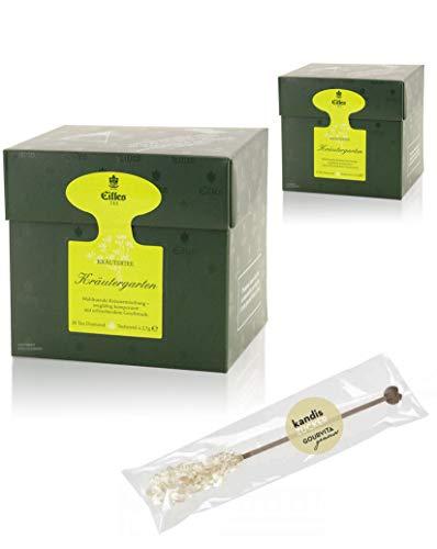 EILLES Tea Diamonds Kräutergarten Mega-Sparset mit 2 Boxen und gratis Kandisstick von Gourvita Moments