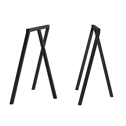 HAY Loop Stand Tischböcke 2er Set, schwarz pulverbeschichtet BxHxT 64,5x72x37cm