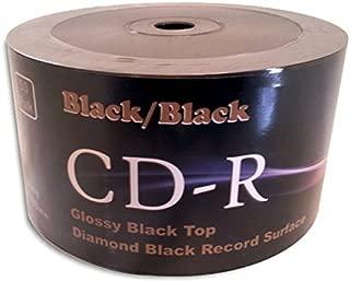 Black/Black 52X 80-Min Double-Sided Colored CD-R 100-Pak (2 x 50-Pak)