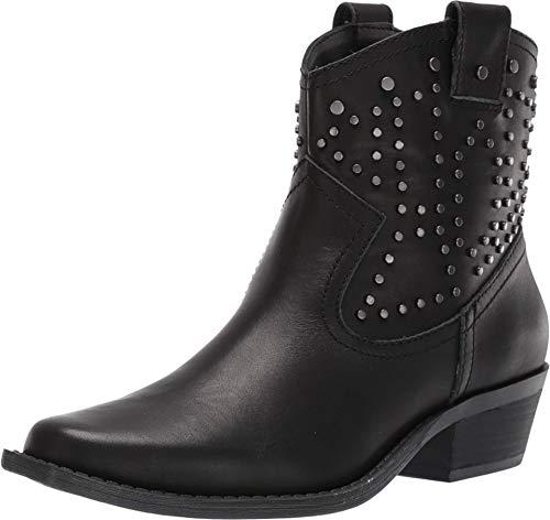 "Dingo Womens Dusty Studded Booties Casual Low Heel 1-2"" - Black, Black, Size 8.5"