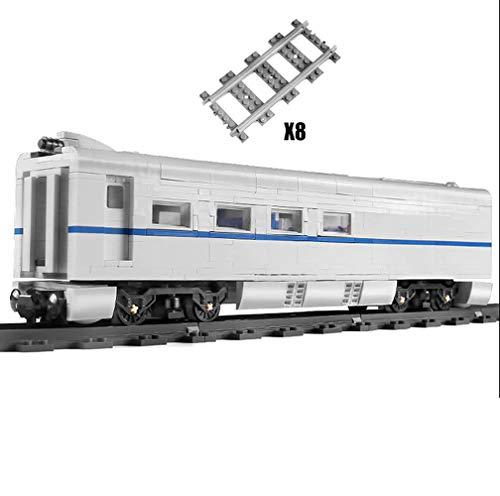 Brigamo Tren Wagon para Mould King 12002 Shinkansen 838 bloques de construcción