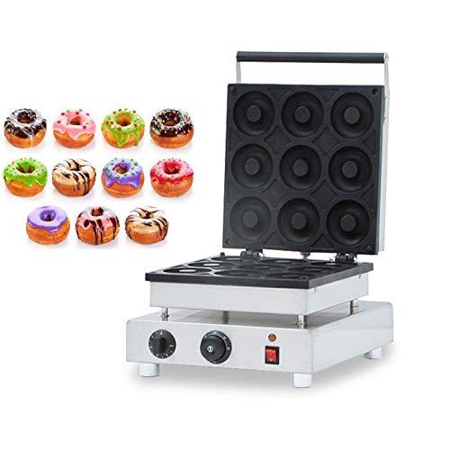 INTBUYING Commercial Donut Machine 110V Nonstick Waffle Electric 9pcs Mini Doughnut Baker Donut Maker Machine