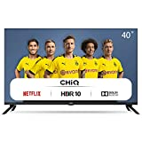 CHiQ Televisor Smart TV LED 40', Resolución FHD, HDR 10/HLG, WiFi, Bluetooth (Solo Auriculares y Altavoces), Netflix,...