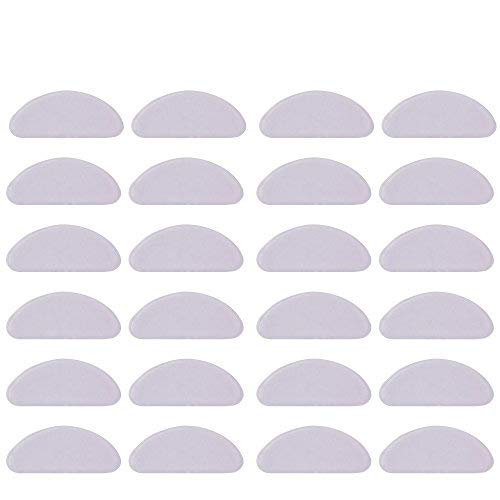 20 Pairs 1 mm Silicone Nose Pads Adhesive Glasses Pads Non-Slip Eyeglass Pads for Eyeglasses Sunglasses (White)