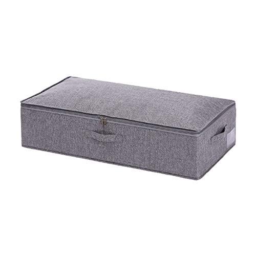 Aitaolian HOMEsn Home Aufbewahrungsbox Unter Bett Für Bettdecken, Faltbarer Faltbarer Feuchtigkeitssichere Aufbewahrungsbox Mit Abdeckung 2 Packung (Color : Gray)