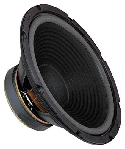MONACOR SP-300P Tieftöner mit Polkernbohrung, 100 Watt Nennbelastbarkeit und einer Impedanz von 8 Ohm, Bass-Lautsprecher mit stabiler Papier-Membran und einer Größe von 12 Zoll, in Schwarz 310mm