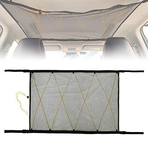 OrangeClub Gepäcknetz Auto für Aufbewahrung, Autodach Gepäcknetz Decke, für Autos Vier Dach Armlehnen, SUV, Jeep, Van usw. (Netz-Kordelzuges)