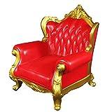 dailymall 1/6 Puppenhaus Whonzimmermöbel Miniatur Einzelsessel Sofa aus ABS-Kunststoff - Rot, 16 x 15 x 19,5 cm