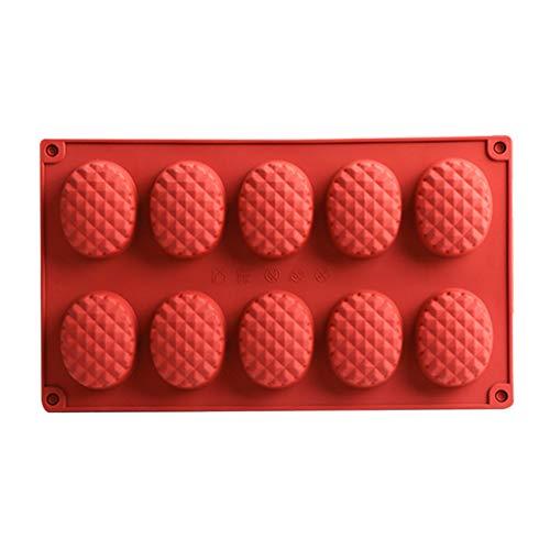 ColourQ - Molde de silicona con 10 cavidades para repostería de chocolate, mousse y helado