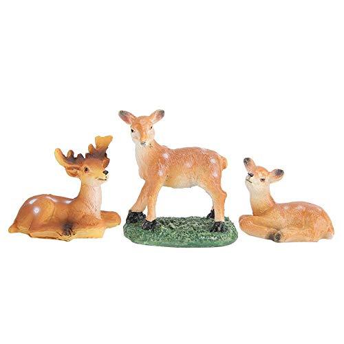 Redxiao 【𝐁𝐥𝐚𝐜𝐤 𝐅𝐫𝐢𝐝𝐚𝒚】 Artesanía de Resina, decoración de simulación Ligera y fácil de Mover, simula Ciervos Animales para decoración de Mesa de macetas de Plantas suculentas