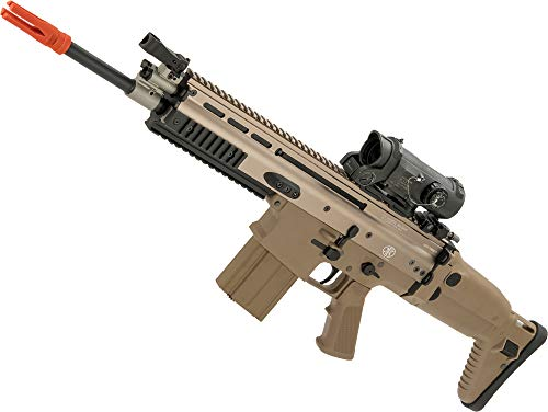 Evike FN Herstal Licensed Full Metal Scar-H Airsoft AEG Rifle by WE-Tech (Color: Tan/Carbine)