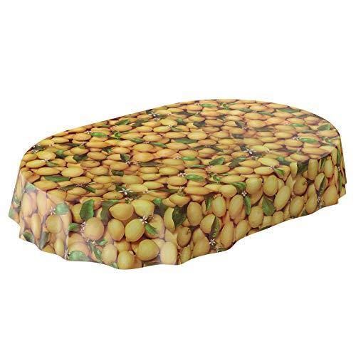 ANRO tafelzeil tafelkleed wasdoek wastafelkleed tafelkleed citroen citroenen geel