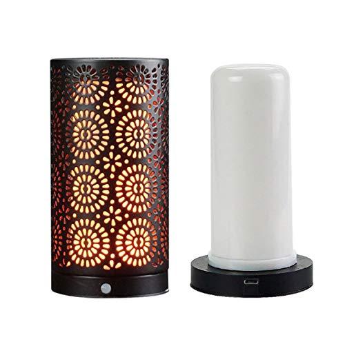LED Flamme Wirkung Licht - Flamme Effekt lampe USB Wiederaufladbar wasserdicht Nachtlichter - Flicker Flame Glühbirnen mit Magnetfuß Dekoration Weihnachten Neujahr Valentinstag