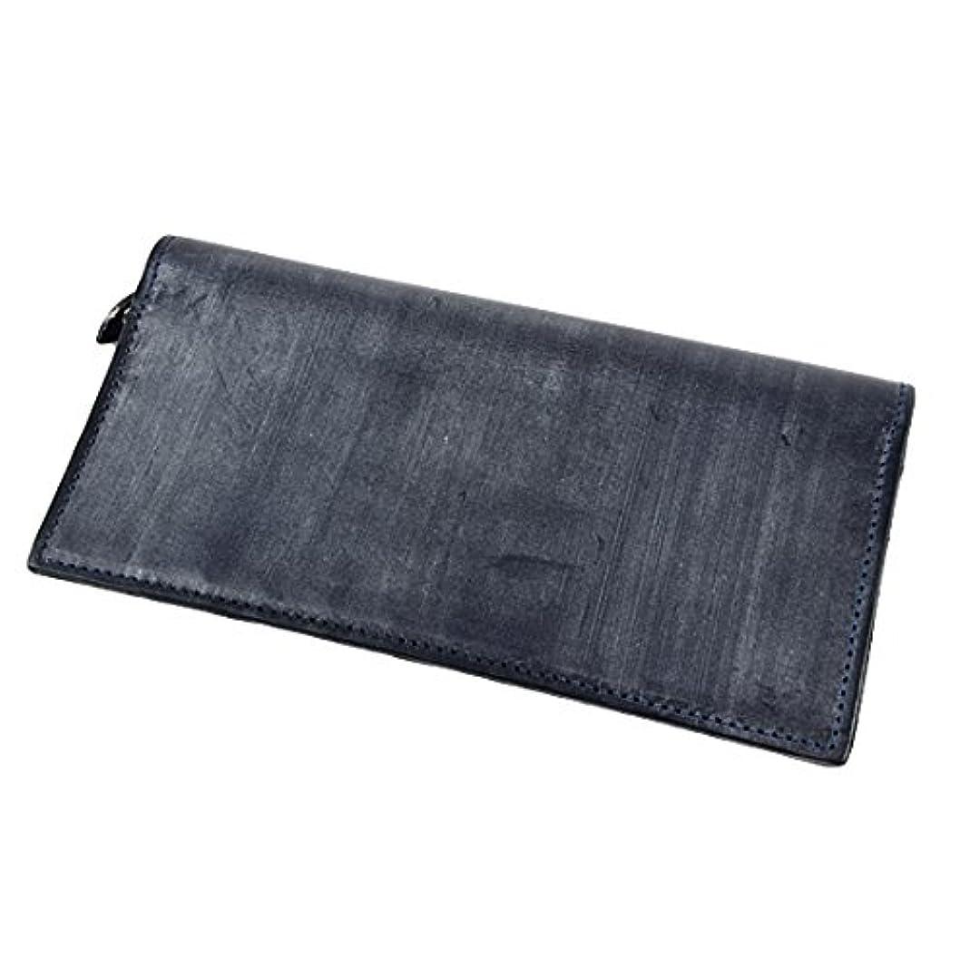 時制心理的に形式GLENROYAL グレンロイヤル 長財布/ロングウォレット PURSE WITH ZIP POCKET ブライドルレザー 03-5605 DARK BLUE ネイビー