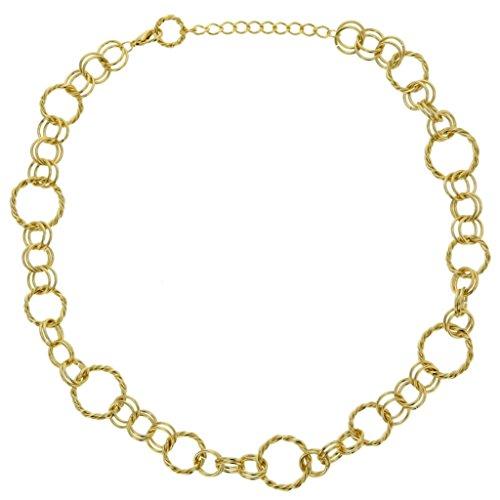Behave goudkleurige choker halsketting - coole dikke ketting goudkleurig - choker halsketting voor vrouwen - sieraden