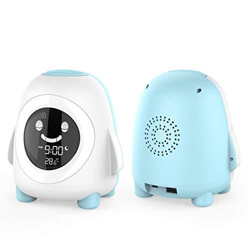 Despertador para NiñOs Creatividad Reloj Dormir GestióN del Tiempo Pantalla LCD Reloj De Entrenamiento MecáNico Estudiante Dormitorio Digital ElectróNico Luminoso Despertador,Blue