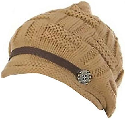 fd31da14 Headwear Women Warm Rageared Baggy Winter Beanie Chunky Knit Crochet Ski  Hat Cap GH3132 Khaki