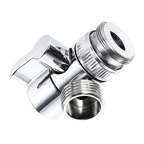 Válvula desviador de brazos de ducha de 3 vías Adaptador de grifo de 3 vías del grifo del grifo para el conector del grifo del accesorio de la manguera del fregadero de la manguera Válvula de desvío d