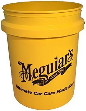 Meguiar's ME RG203 Yellow Large Car Wash Bucket 5US Gallon