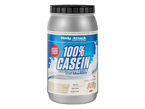 Body Attack 100% Casein Protein - 900g Strawberry Cream