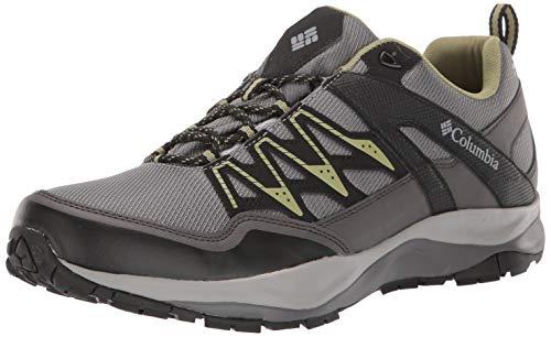 Columbia Men's WAYFINDER Outdry Hiking Shoe, ti Grey Steel, Cool Moss, 7 Regular US