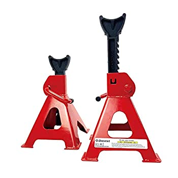 Donext Jack Stand 3 Ton Capacity Steel 1 Pair Red Jack Stands