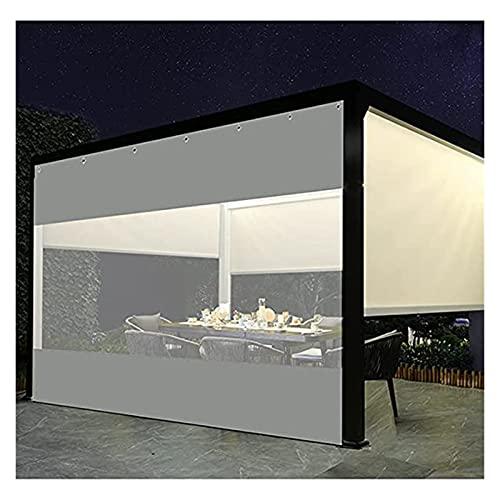 GGYMEI Cortina De Lona Transparente Al Aire Libre, Paneles De Carpa De PVC con Perforaciones, Cortina De Privacidad Usado para Pérgola Porche, Personalizable (Color : Claro, Size : 3.2x2.5m)