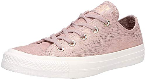 Converse Damen Chuck Taylor CTAS Ox Sneakers, Mehrfarbig (Diffused Taupe/Metallic Taupe 055), 39.5 EU