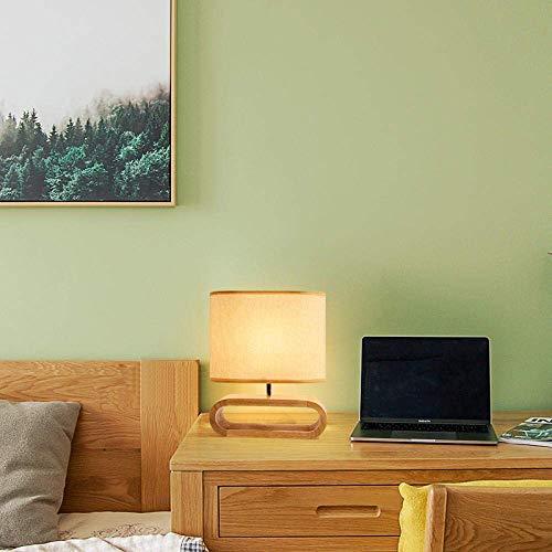 LIUCHANG Holztischlampe, Massivholz-Tuch-Kunst-Kreativ Nordic Tischleuchte LED Tischleuchte Nacht Schlafzimmer Holz Holz Modernes Wohnzimmer liuchang20
