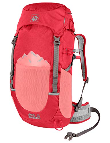 Jack Wolfskin Sac à dos Pioneer 22 - Unisexe - Rouge tulipe - Taille unique