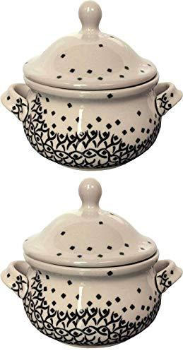 Bunzlauer Keramik 2x Behälter Honigtopf Zuckerdose 0.45 L 1185