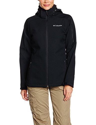 Columbia Chaqueta Softshell Cortavientos para Mujer, Cascade Ridge Jacket, Negro (Black), Talla M