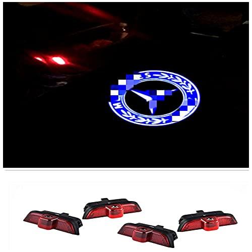 ZTMYZFSL 4 proyectores de logotipo para coche (For 4B204)