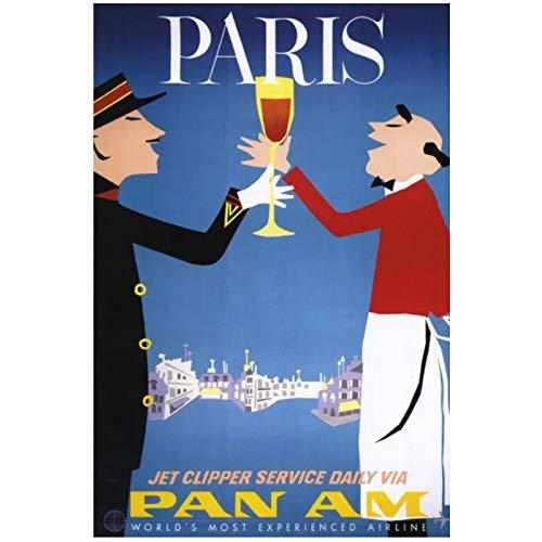 Gopfl Menschen Toasten Wandkunst Poster Leinwand Malerei Home Decor Bilder Drucken auf Leinwand -20X28 Zoll No Frame 1...