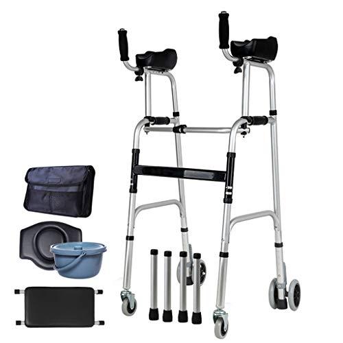 SHANG Senioren Walker, Leichtgewicht Rollator Walker Für ältere Menschen Verstellbarer Ellbogen Unterstützt Gehhilfen Outdoor Unterarm Walker Rollator