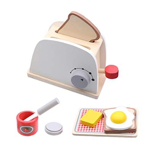 perfeclan Küchenset Spielzeug Holzsimulation Brotmaschine Stimuliert Die Fantasie Für Kleinkinder Spaß Lernen Küche Spielzeug