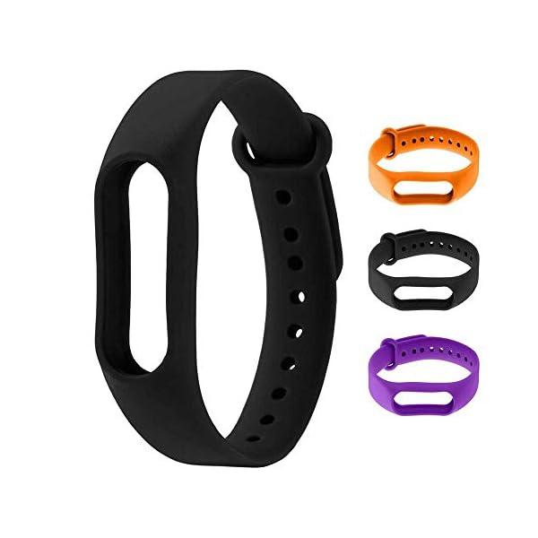 OcioDual Recambio Reemplazo de Bracalete Cinta Correa Pulsera para Pulsera Inteligente Xiaomi Mi Band 2 Negro Smartwatch 1