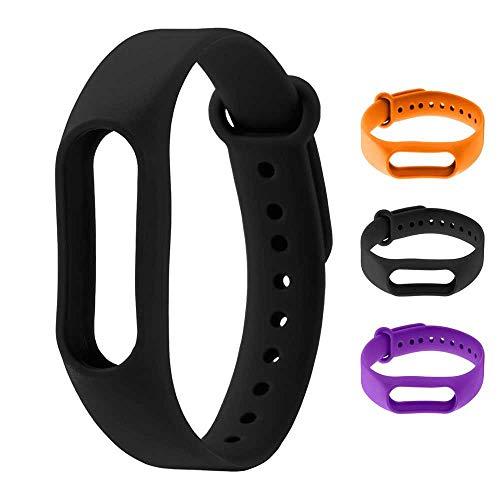 OcioDual Recambio para Pulsera Actividad Xiaomi Mi Band 2 Smartwatch Correa Reloj Negro