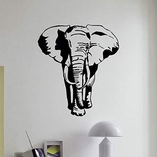 Wandaufkleber Wandtattoos Wandsticker Elefant Wandtattoo Afrikanische Tier Wilder Elefant Pvc Wandkunst Aufkleber Afrika Safari Tier Kinder Schlafzimmer Dekoratives Dekor 65X58 Cm