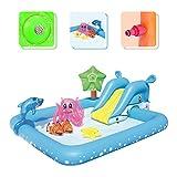 NHR Fantastic Aquarium Play Center Inflatable Pool for Kids, (Size 239cm x 206cm x 86cm, Water Capacity: 308 LTR.)