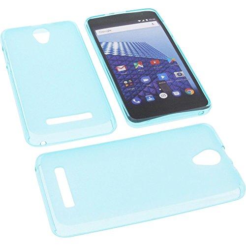foto-kontor Tasche für Archos Access 50 Color 3G Gummi TPU Schutz Handytasche blau