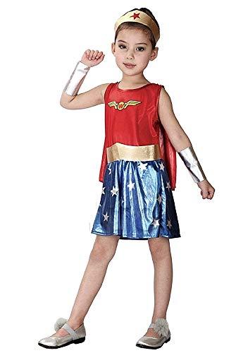 Super Woman Kostüm - Kostüm - Kind - Baby - Verkleidung - Halloween - Karneval - Cosplay - ausgezeichnete Qualität - die Größe 120/130 cm - Idee für Weihnachten und Geburtstagsgeschenk
