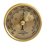 geneic Barómetro para el hogar, medidor de presión, estación meteorológica de metal, para colgar en la pared, atmosférica, multifunción, termómetro higrómetro para uso en interiores